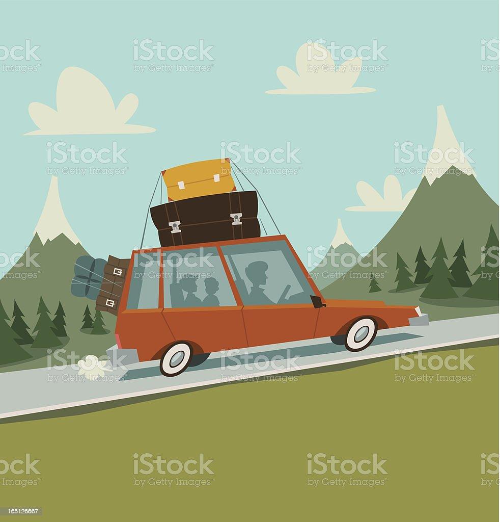 Big journey vector art illustration