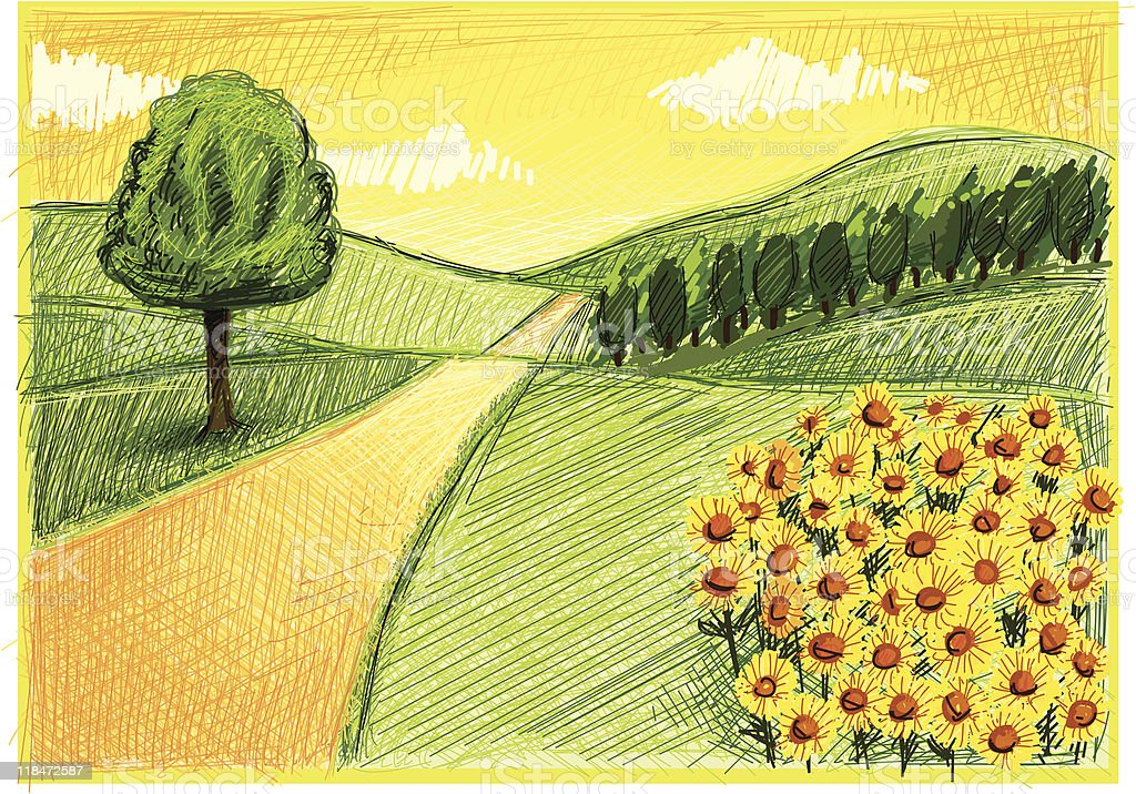 big landscape royalty-free stock vector art
