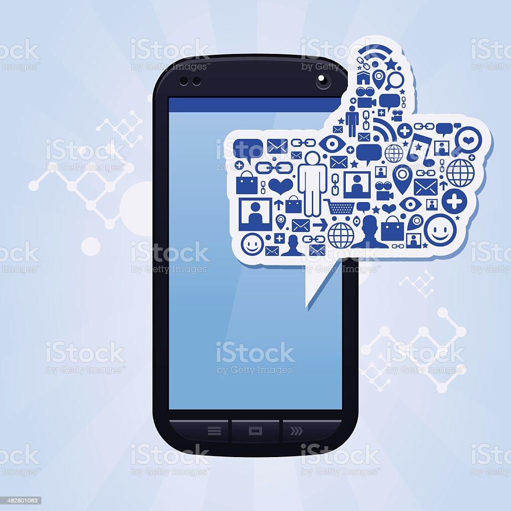 Big like phone royalty-free stock vector art