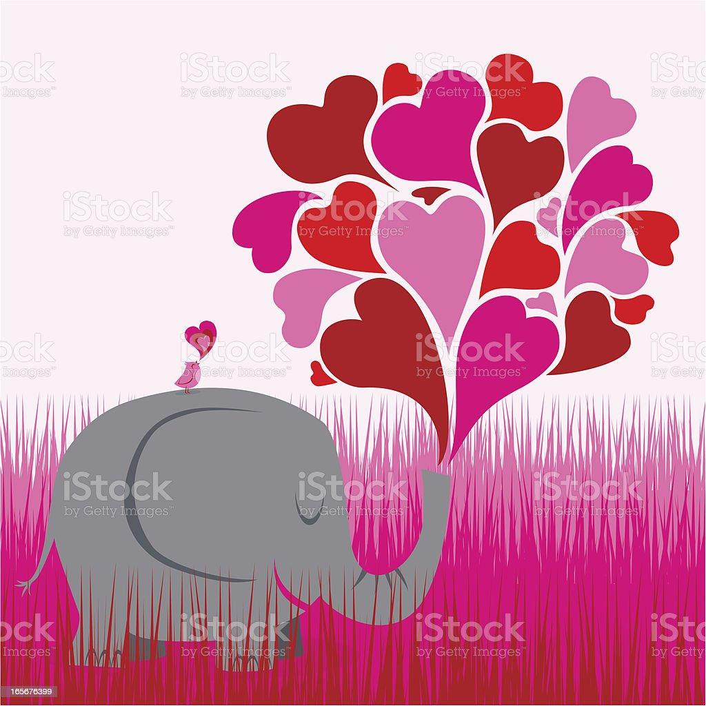 Big love vector art illustration