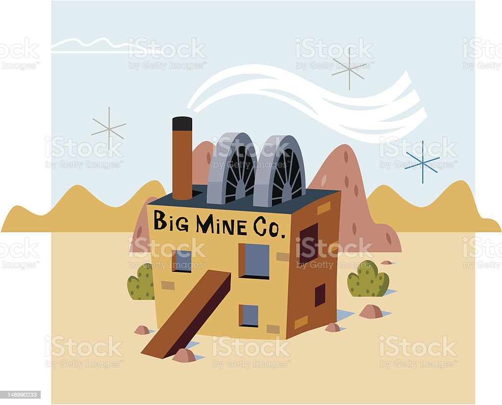 Big Mine royalty-free stock vector art
