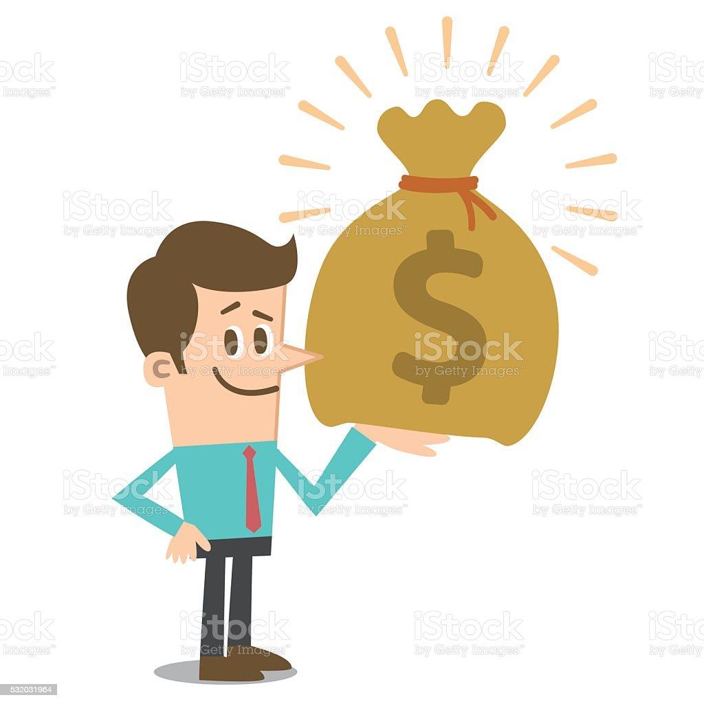 Big Money vector art illustration