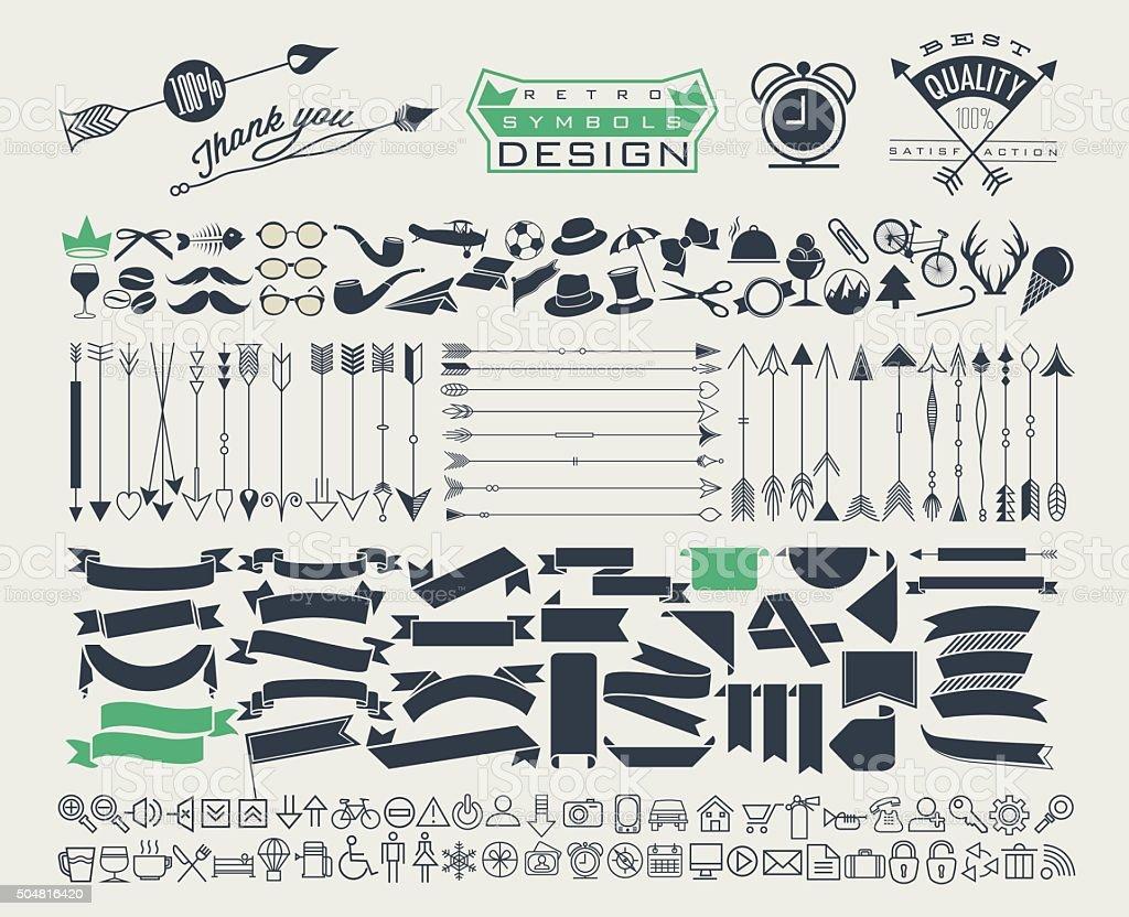 Big object symbols for all design. vector art illustration