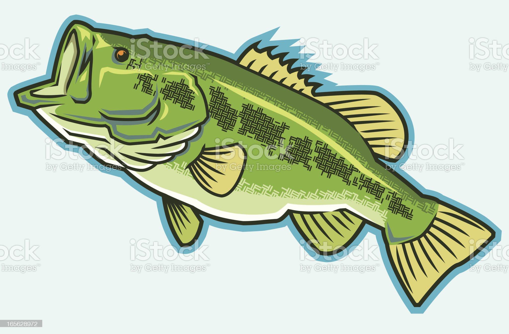 Big Ol' Bass royalty-free stock vector art