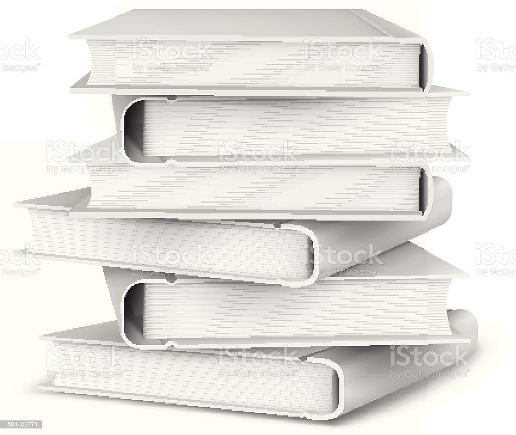 Big pile of books royalty-free stock vector art