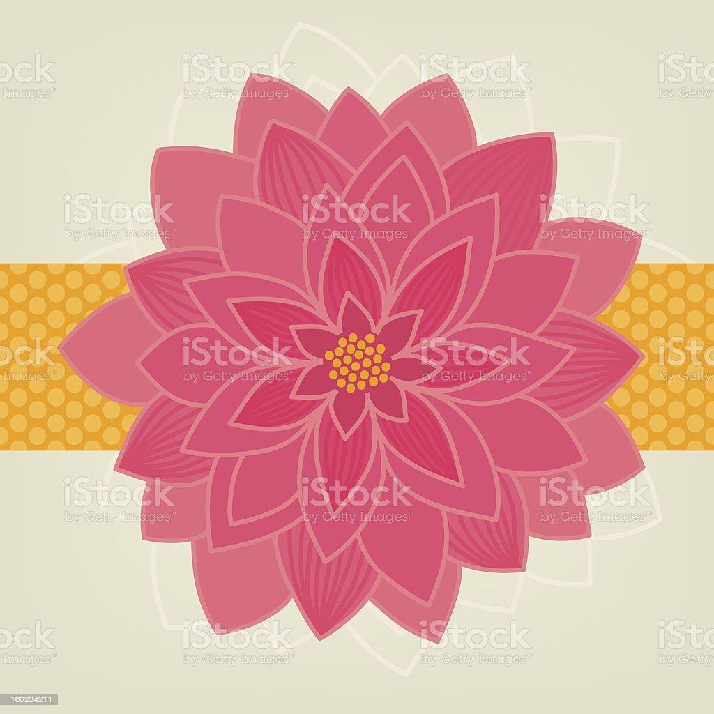 Big pink chrysanthemum royalty-free stock vector art