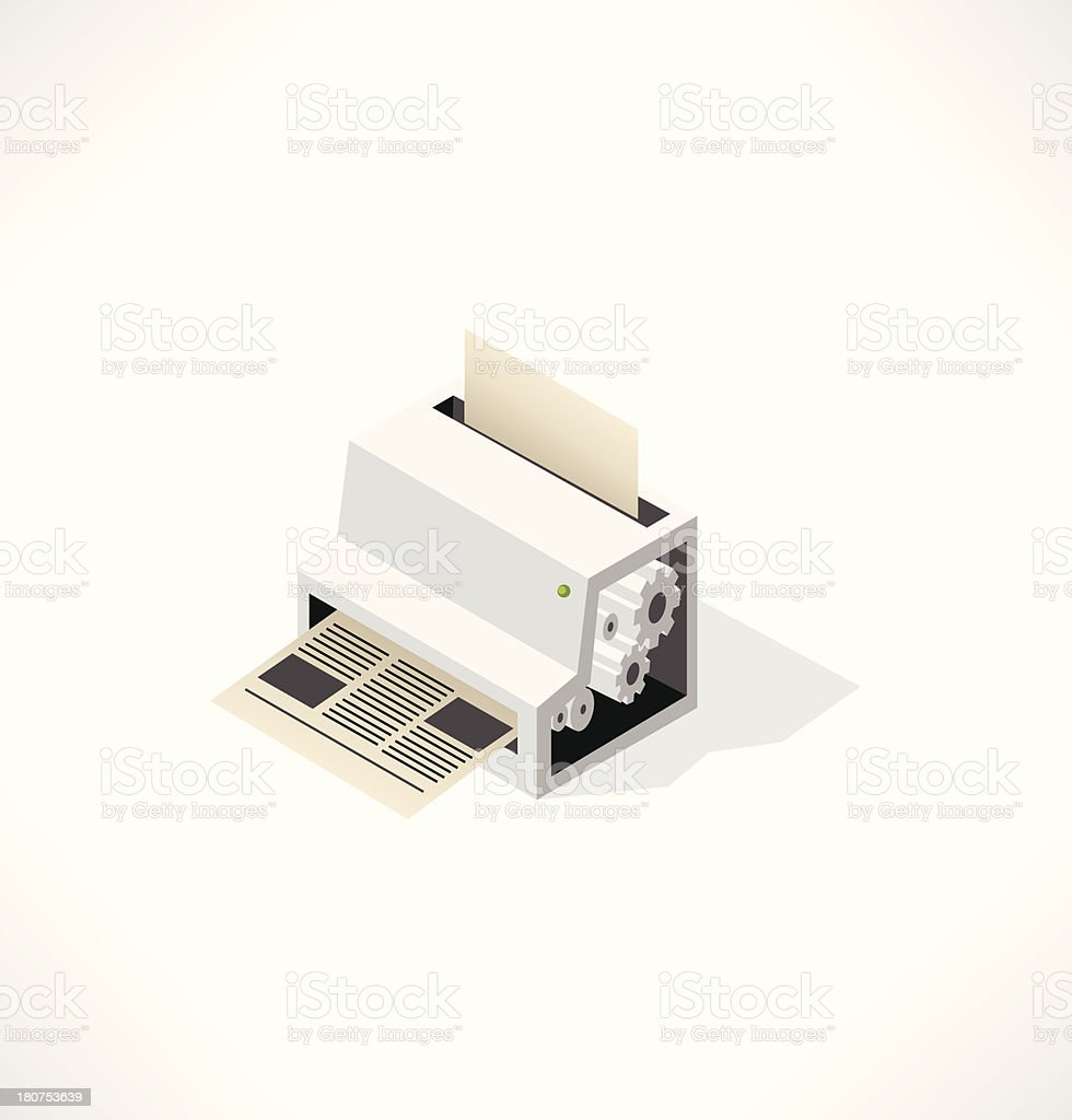 Big printer-fabric for printing newspaper. royalty-free stock vector art