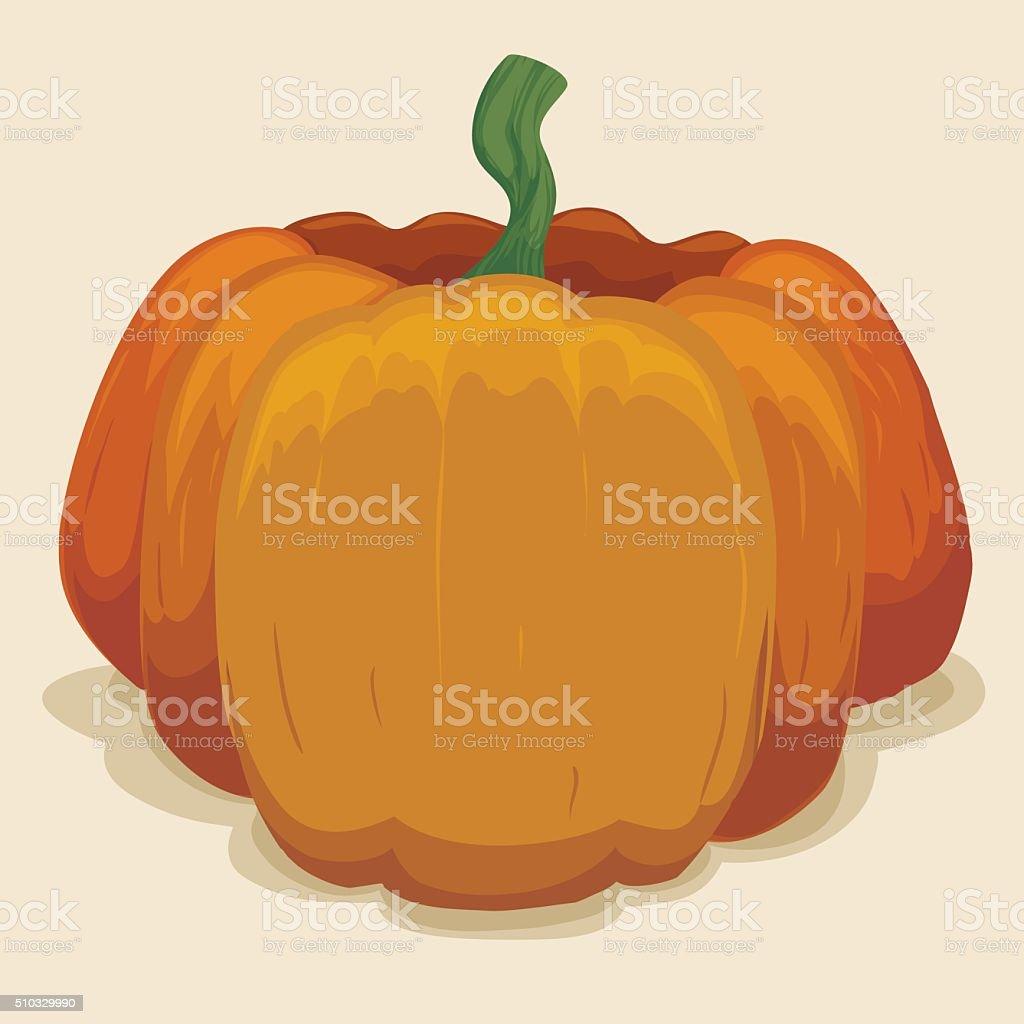 Big Pumpkin Isolated vector art illustration