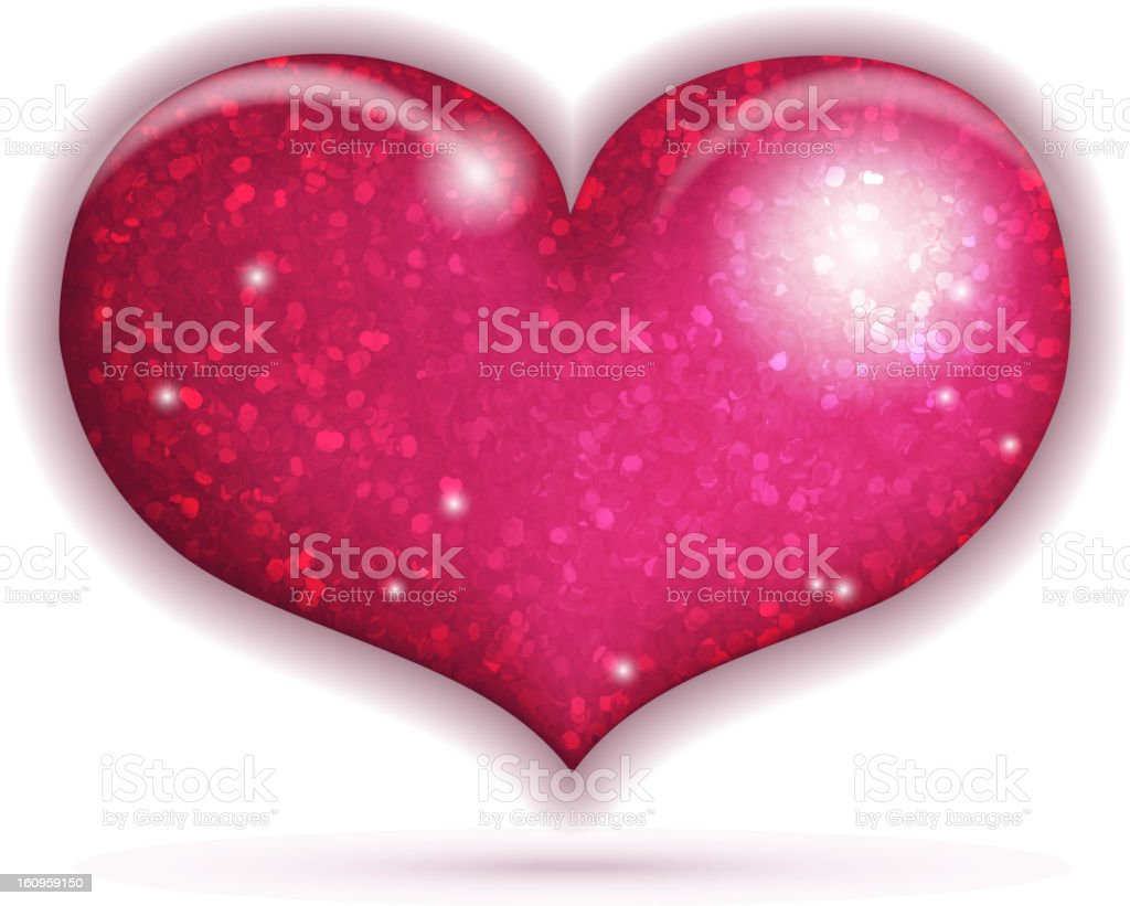 Big Red Heart royalty-free stock vector art