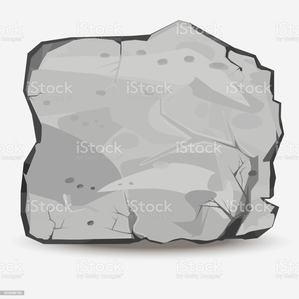 Big Rock stone vector art illustration
