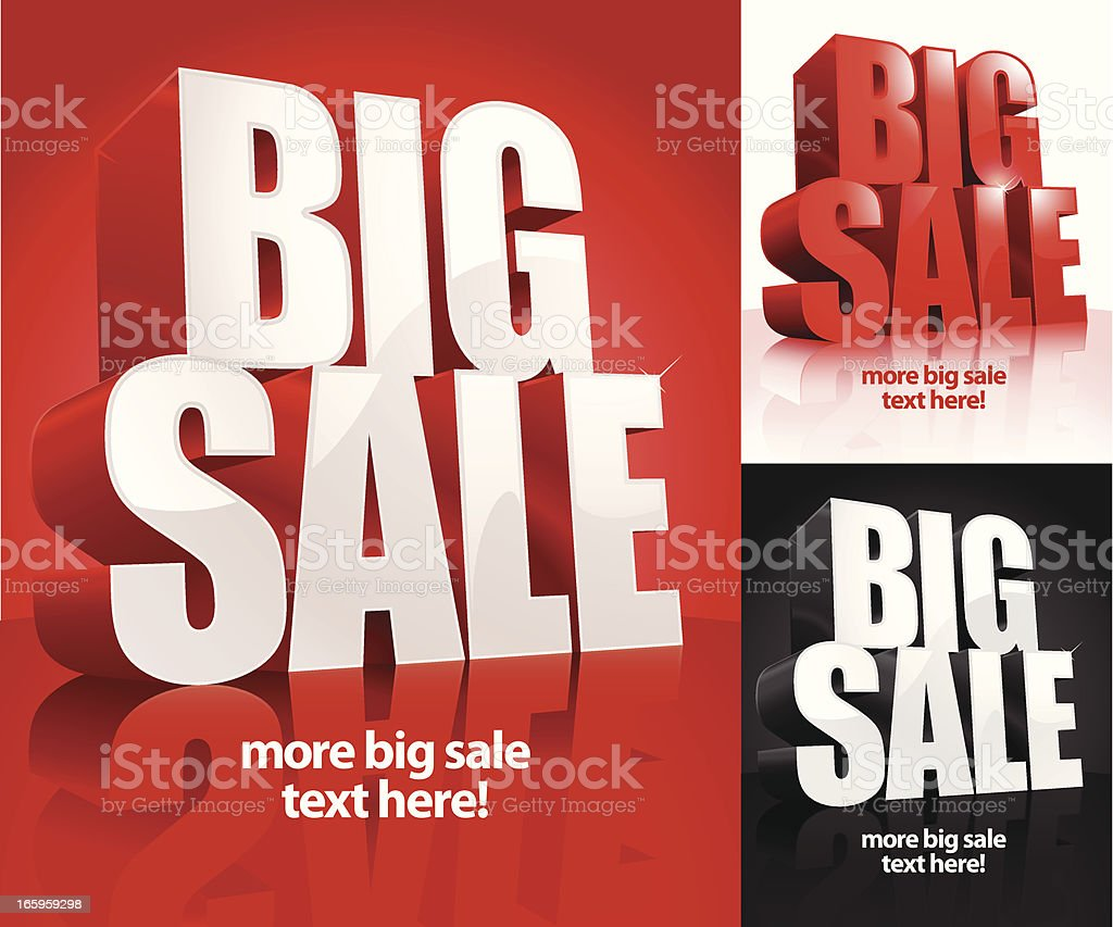Big Sale Banner royalty-free stock vector art