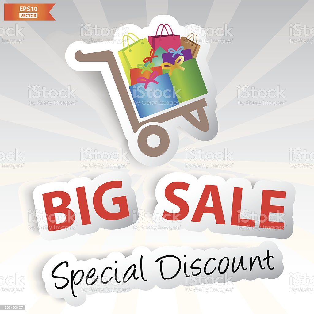 Big sale special discount poster or banner.-eps10 vector royalty-free stock vector art