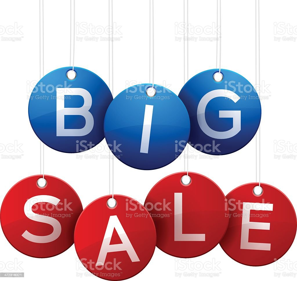 Big Sale Tags vector art illustration