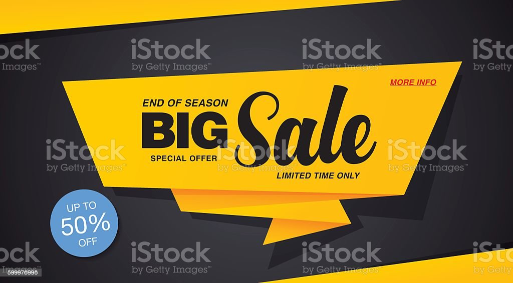 Big sale template banner vector art illustration
