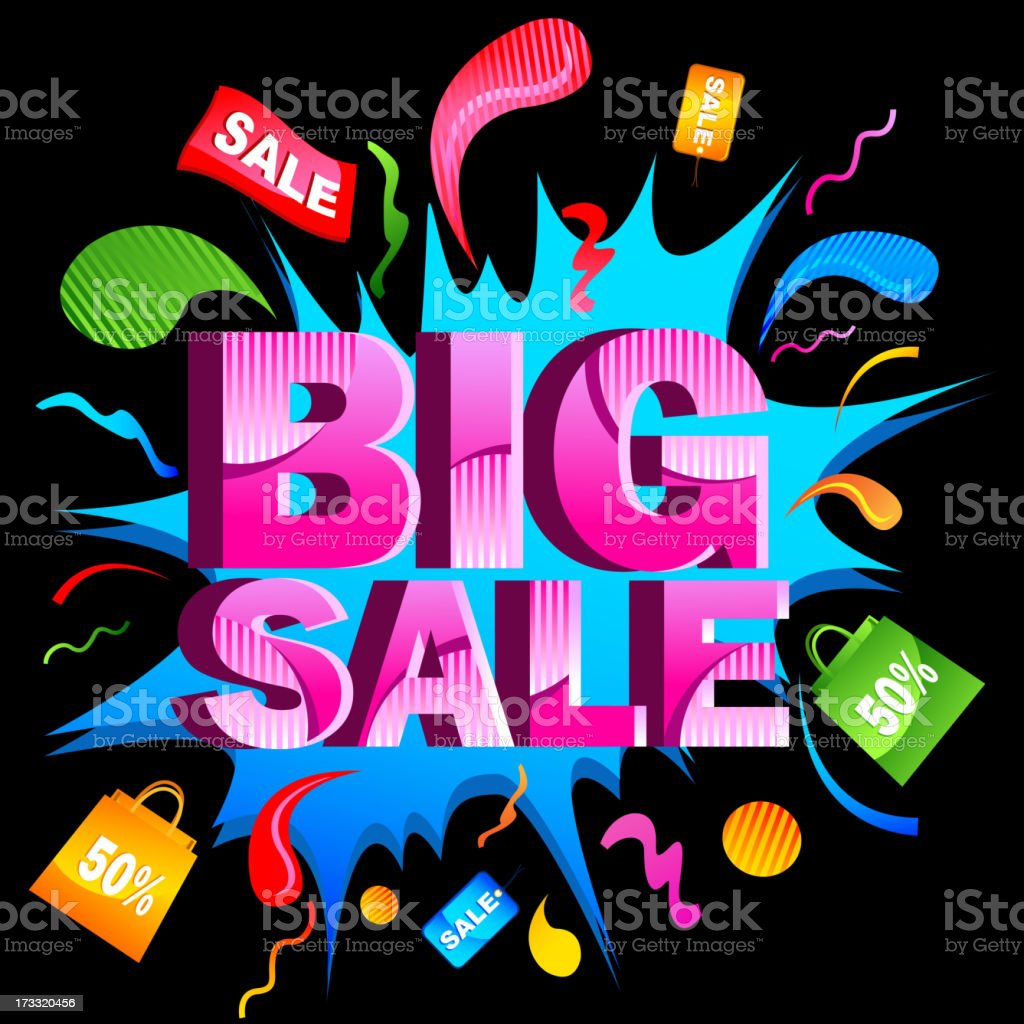Big Sale royalty-free stock vector art