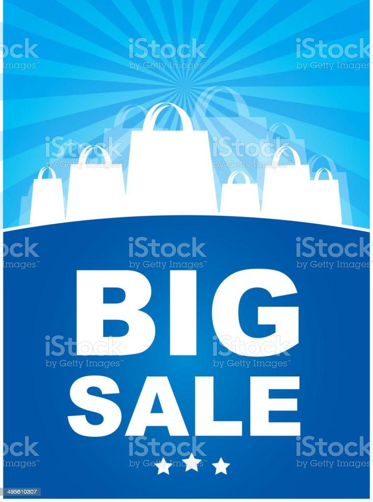 BIg sale vector art illustration