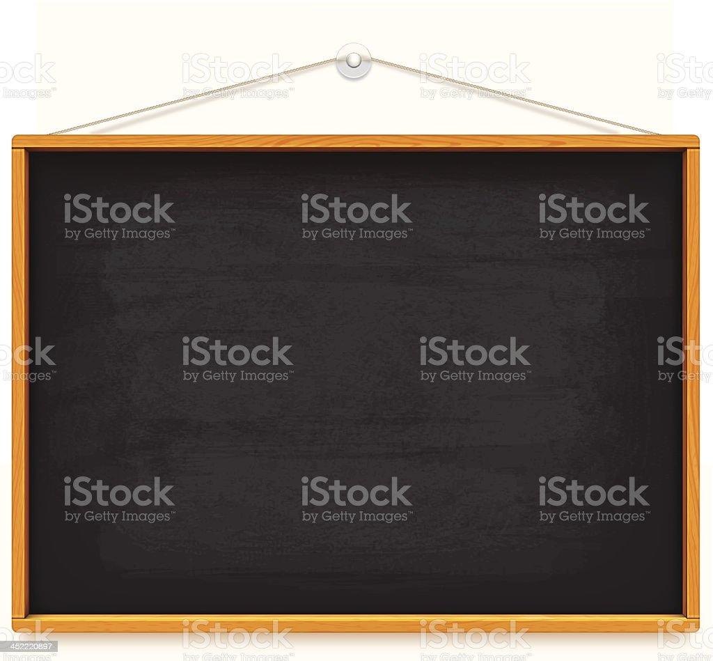 big school blackboard vector art illustration