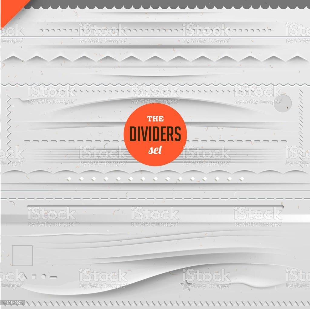 Big set of vector dividers for web design vector art illustration