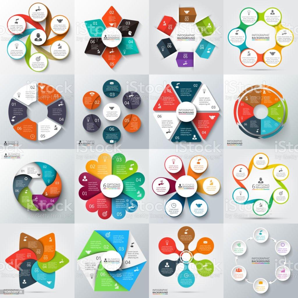 Big set of vector elements for infographic. vector art illustration