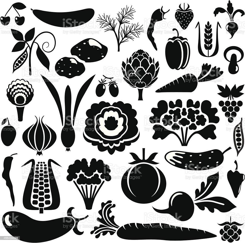 Big set of vegetables royalty-free stock vector art