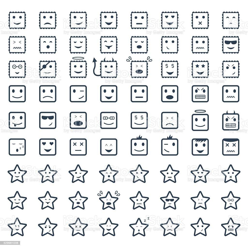 Big set smile,vector icon.Vector symbols. Vector illustration vector art illustration