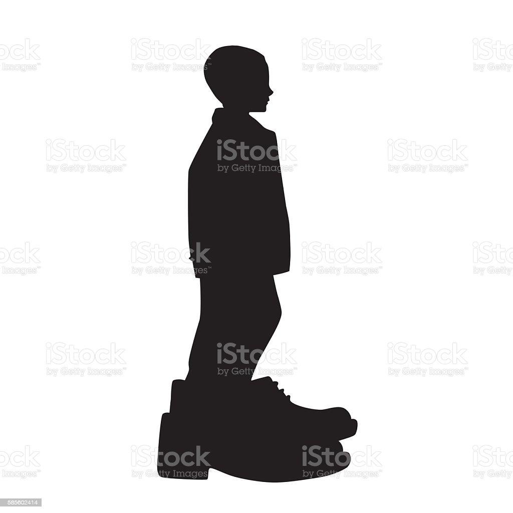 Big Shoes To Fill vector art illustration