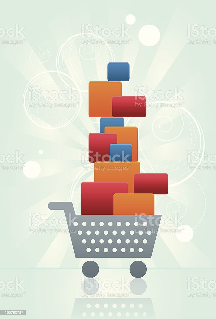 Big Shopping royalty-free stock vector art