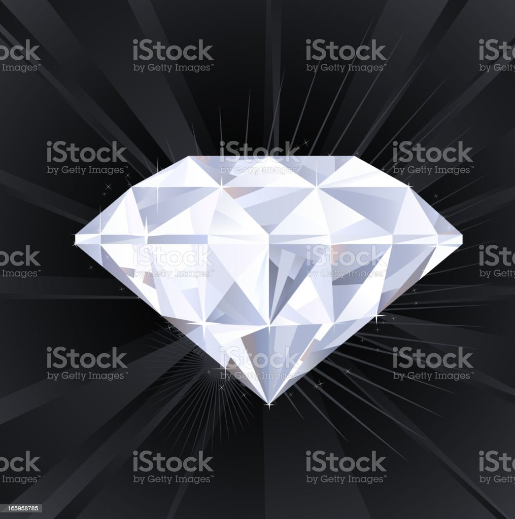 Big Sparkling Assed Diamond Treasure (XXXL) royalty-free stock vector art