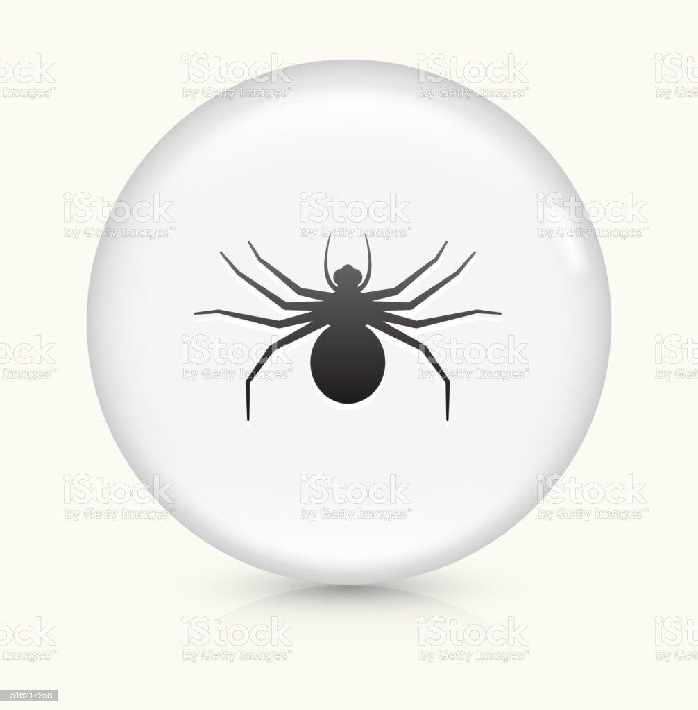 Big Spider icon on white round vector button vector art illustration