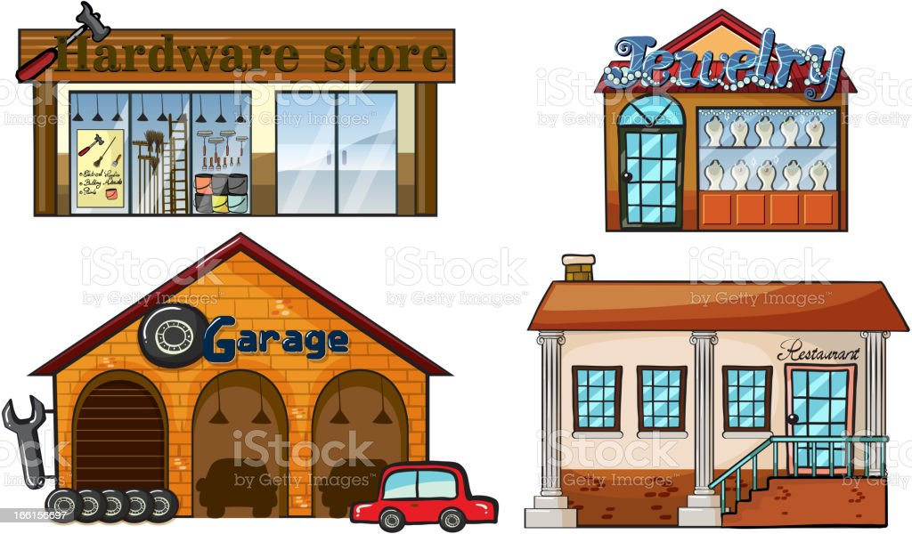 Big Stores royalty-free stock vector art
