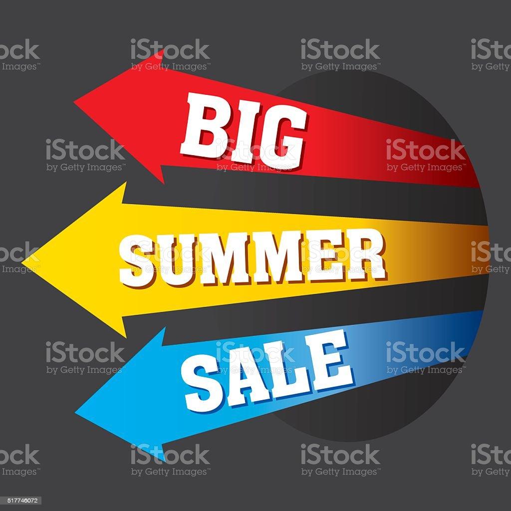 big summer sale banner design vector art illustration