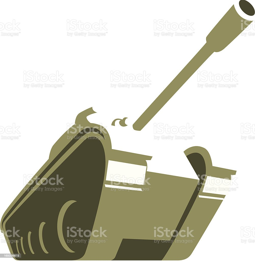 Big Tank vector art illustration