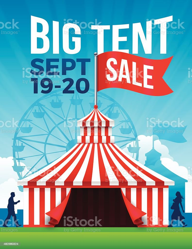 Big Tent Sale vector art illustration