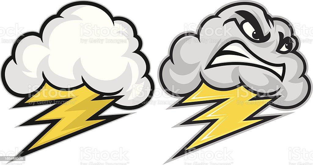 Big thunder Little Lightning royalty-free stock vector art