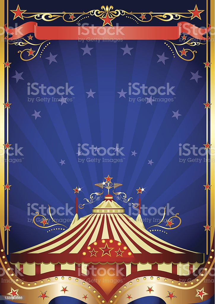 Big top at night royalty-free stock vector art