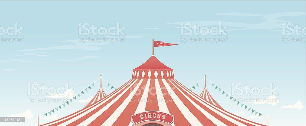 Big Top Background vector art illustration