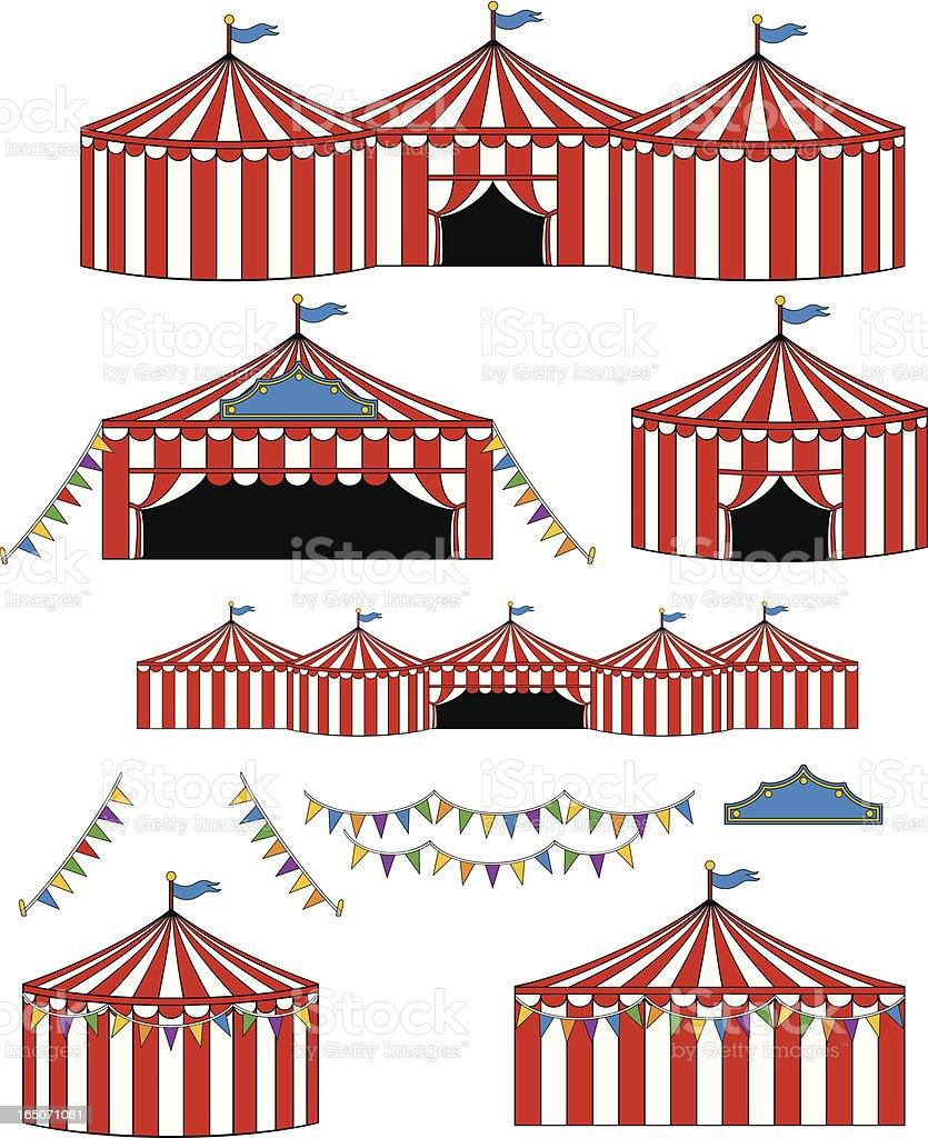 Big Top Circuscarnival Tents stock vector art 165071081 ...