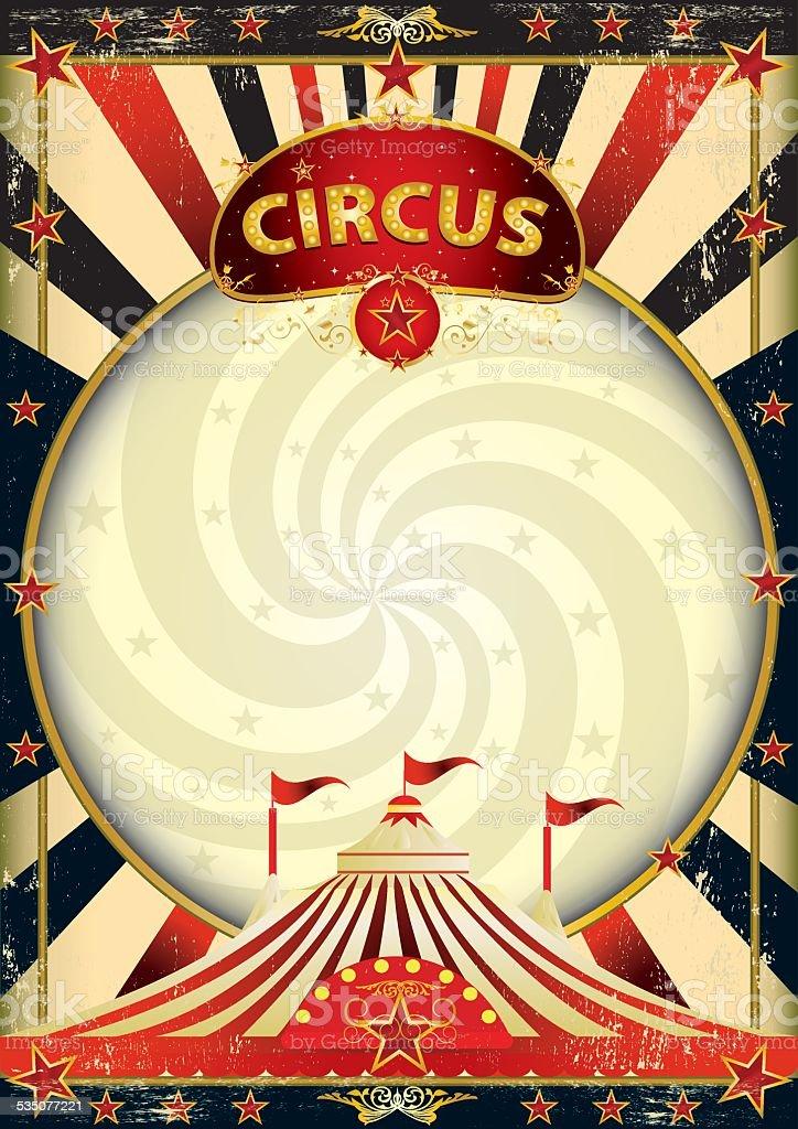 big top sunbeams circus poster vector art illustration