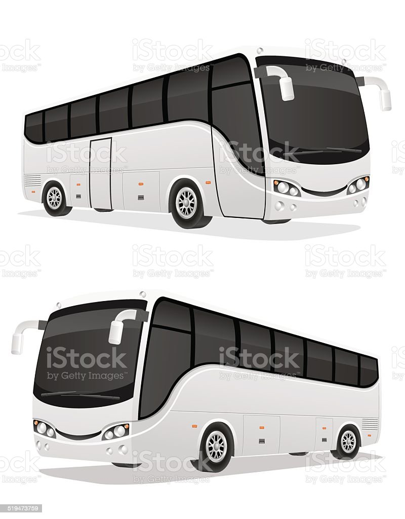 big tour bus vector illustration vector art illustration
