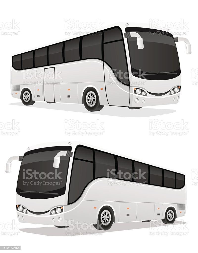 big tour bus vector illustration vector art illustration