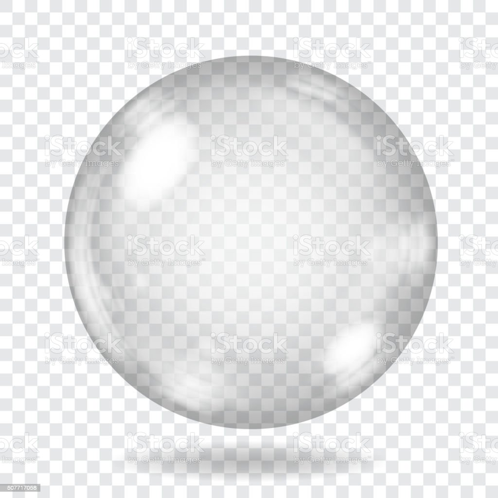 Big transparent glass sphere. Transparency only in vector file vector art illustration