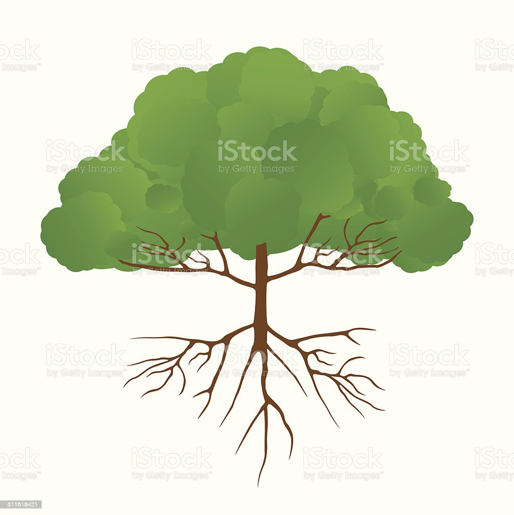 Big Tree stock vecteur libres de droits libre de droits
