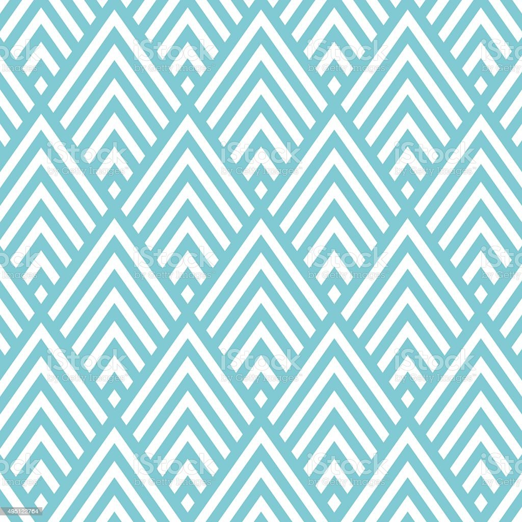 Big triangle chevron pattern background vector art illustration