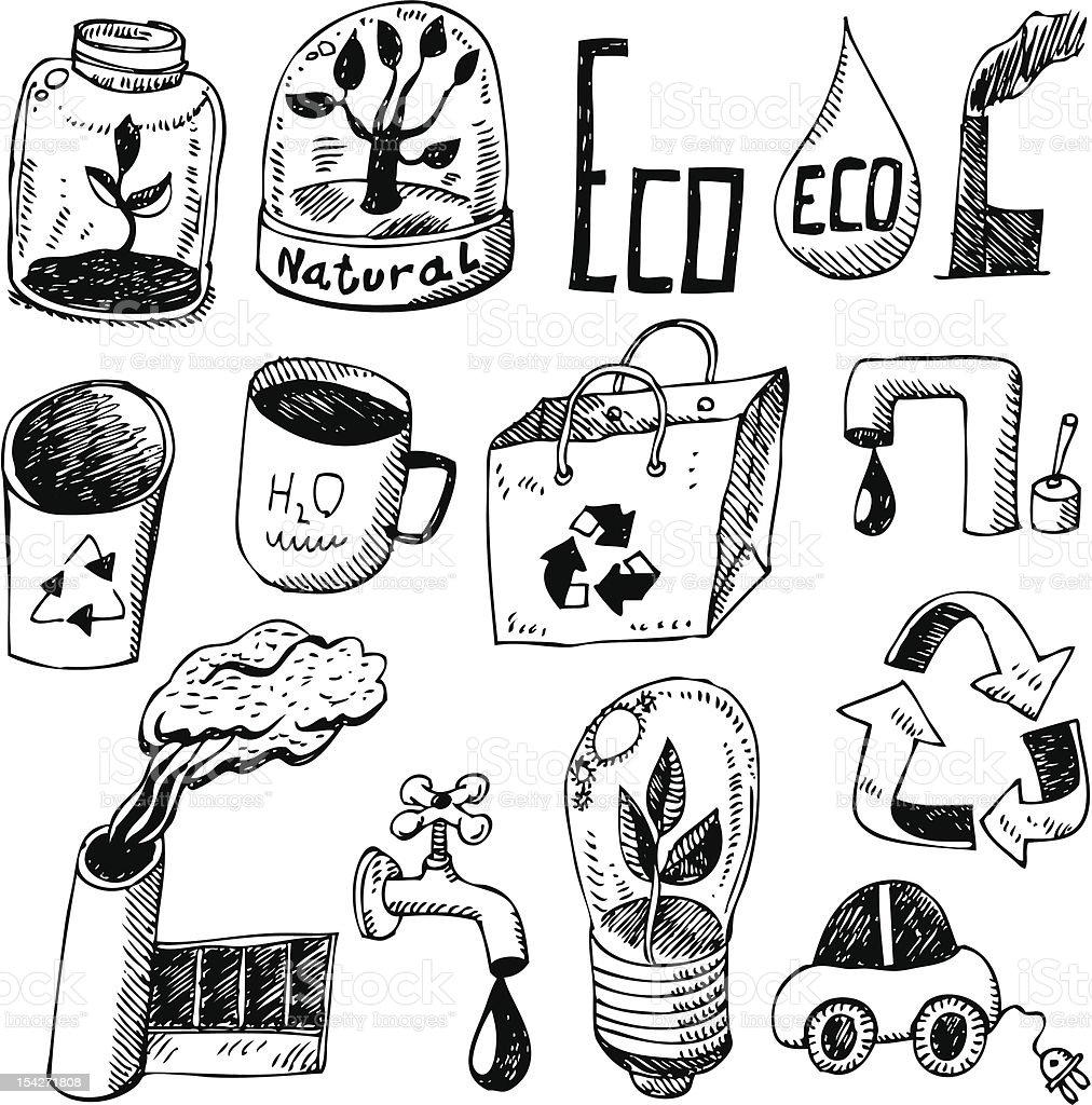 big vector set - eco royalty-free stock vector art