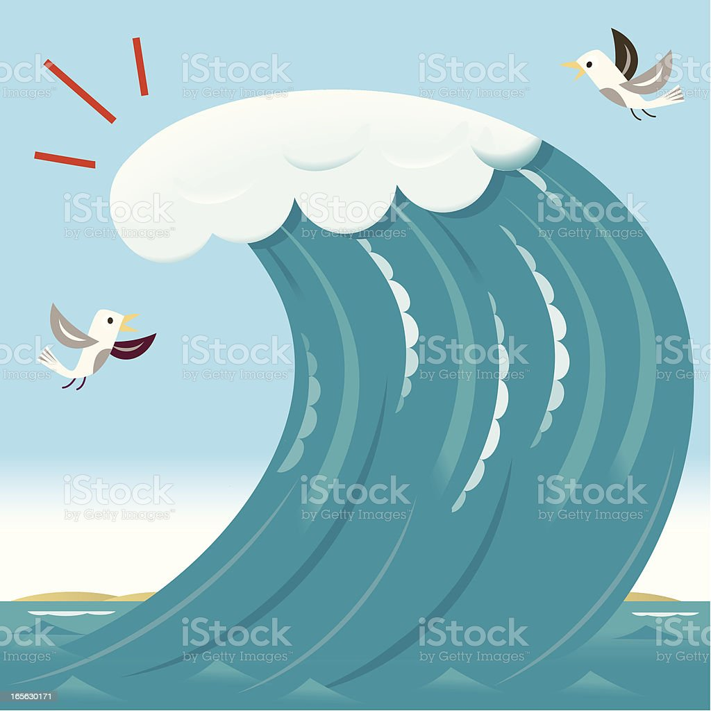 Big Wave / Tsunami vector art illustration