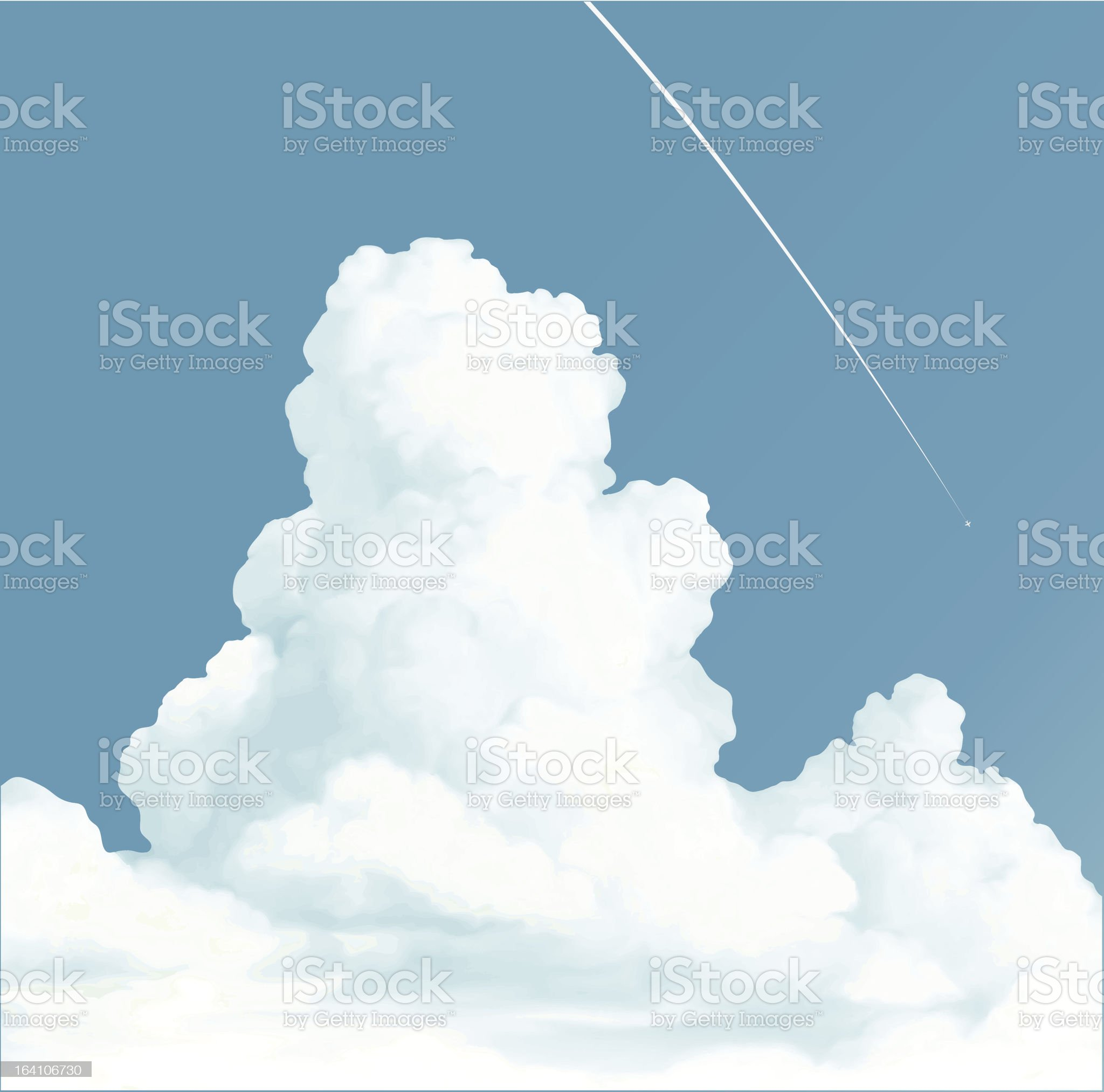 Big white clouds royalty-free stock vector art