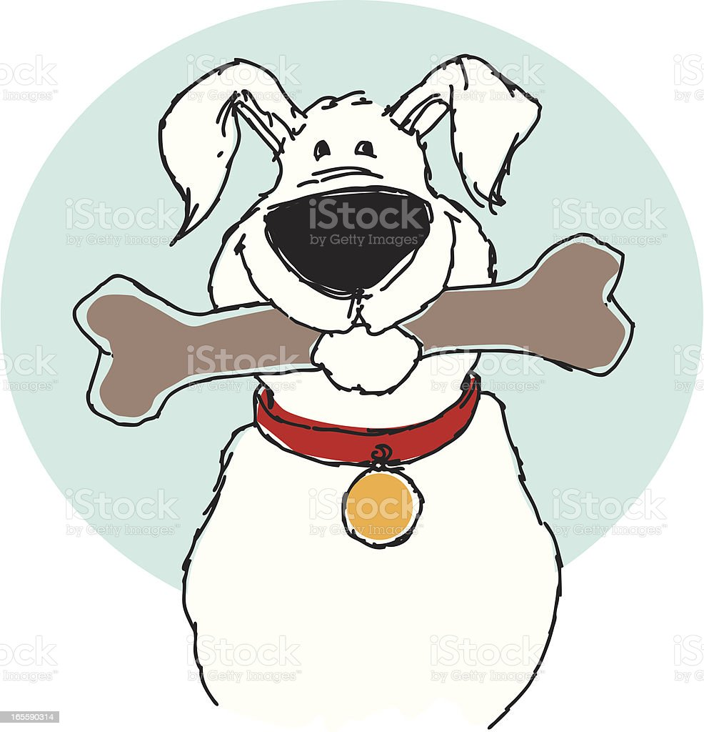Big white dog royalty-free stock vector art