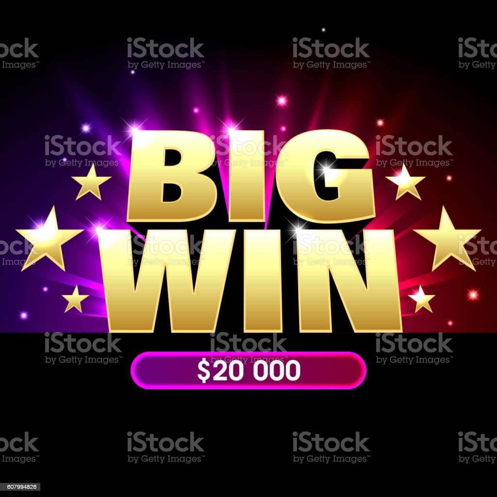 Big Win casino banner vector art illustration