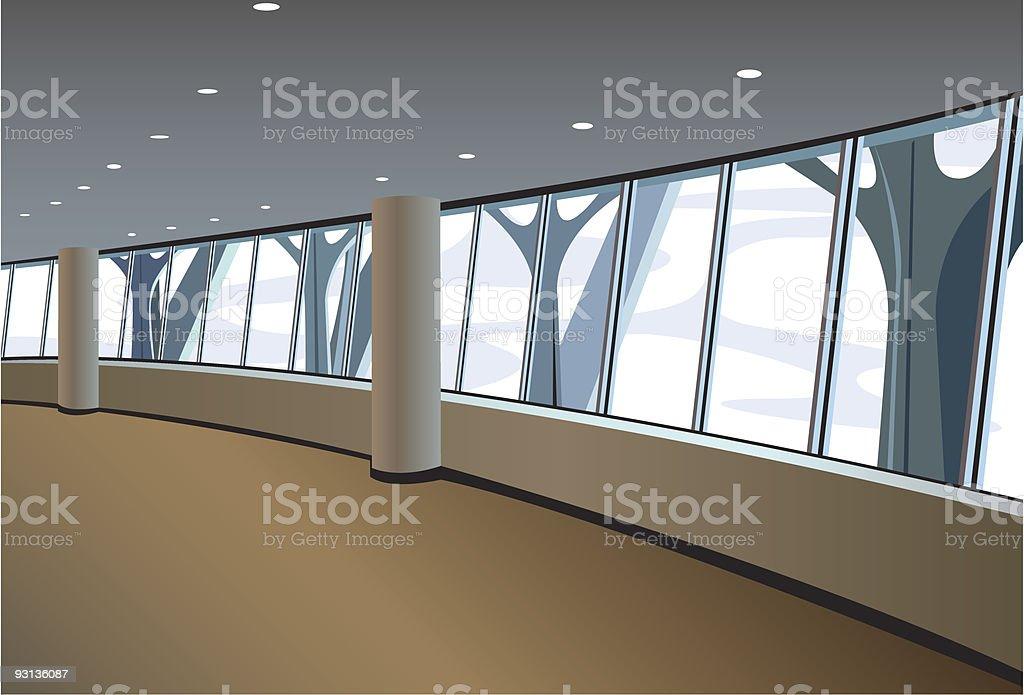 big window interior royalty-free stock vector art