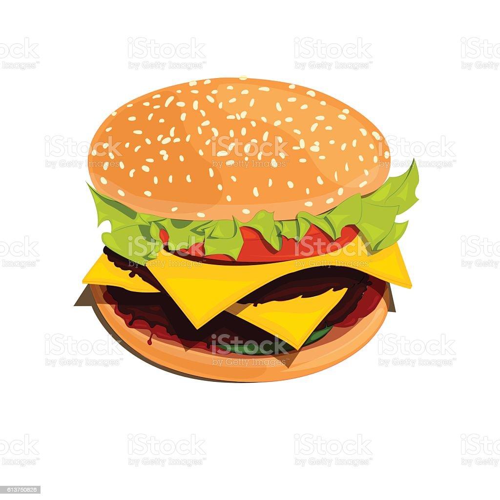 Bigburger vector illustration vector art illustration